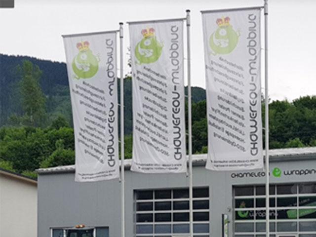 Werbetechnik von Chameleon Wrapping Company Eben im Pongau Salzburg - Bannerdruck
