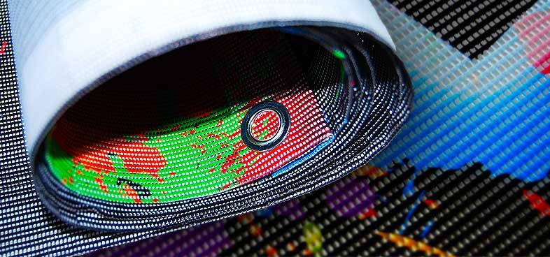 Chameleon Wrapping Company Eben im Pongau Salzburg Banner aus Mesh_Material - Digitaldruck