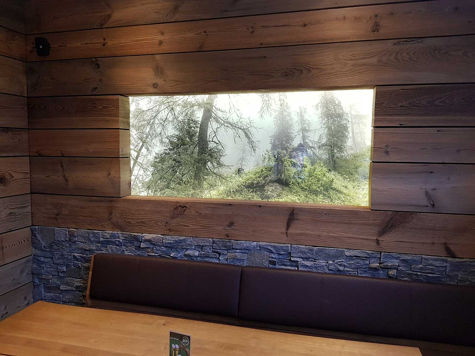 Chameleon Wrapping Company Eben im Pongau Salzburg Fensteratrappe - Folien Glasdekor