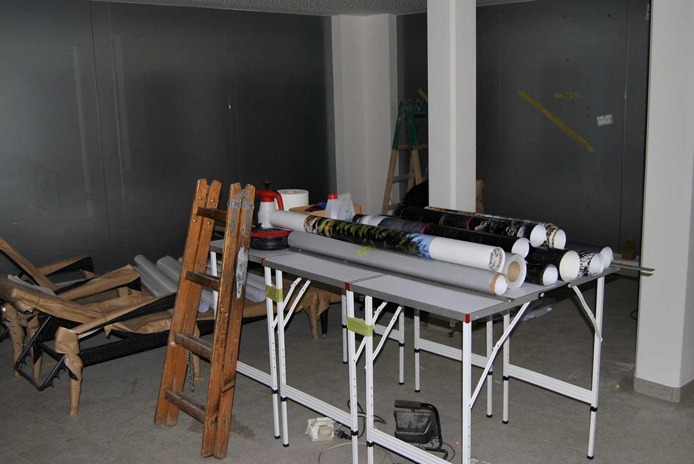 Folierung bei der Arbeit - Interior-Design