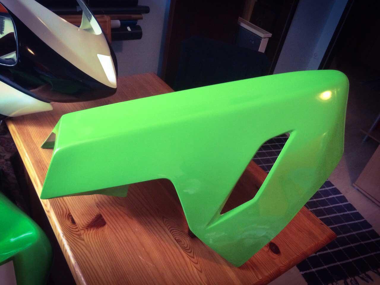 Folie zur BEklebung von Motorrad - grün