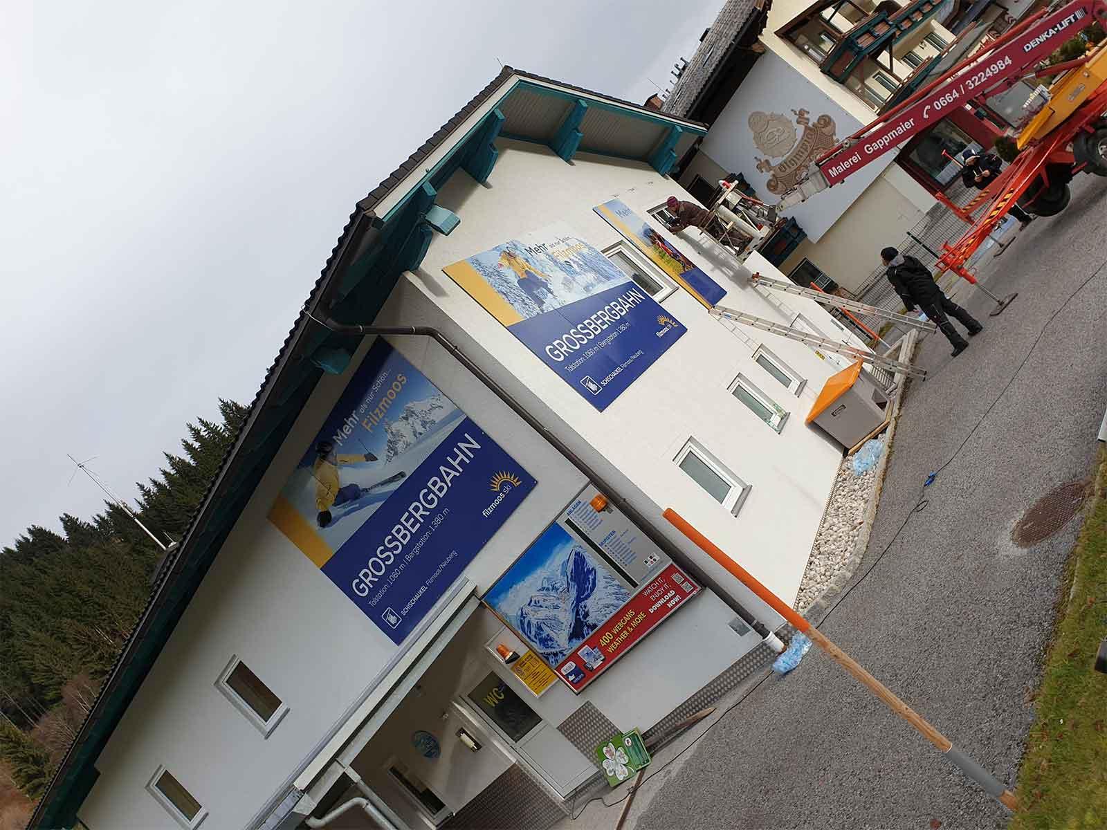 Fassadenbeschriftung - Werbetechnik - Chameleon Wrapping Company Eben im Pongau Salzburg