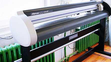 Geräte für Digitaldruck und Konfektionierung bei Chameleon Wrapping Company in Eben im Pongau - Salzburg