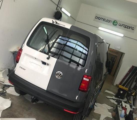 Folienbeklebung VW-Caddy - zweifärbig