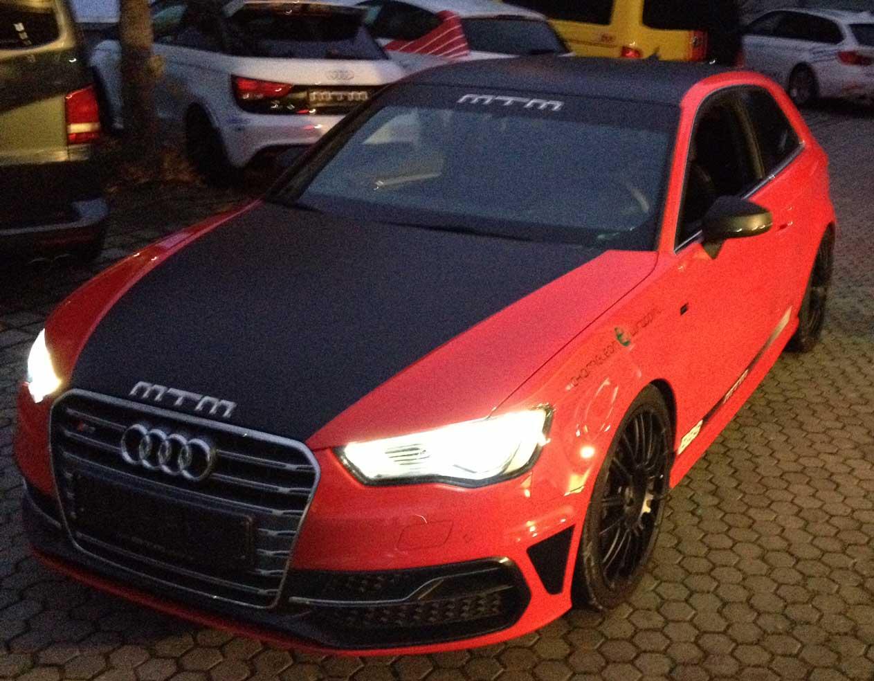 zweifärbige Folierung Audi