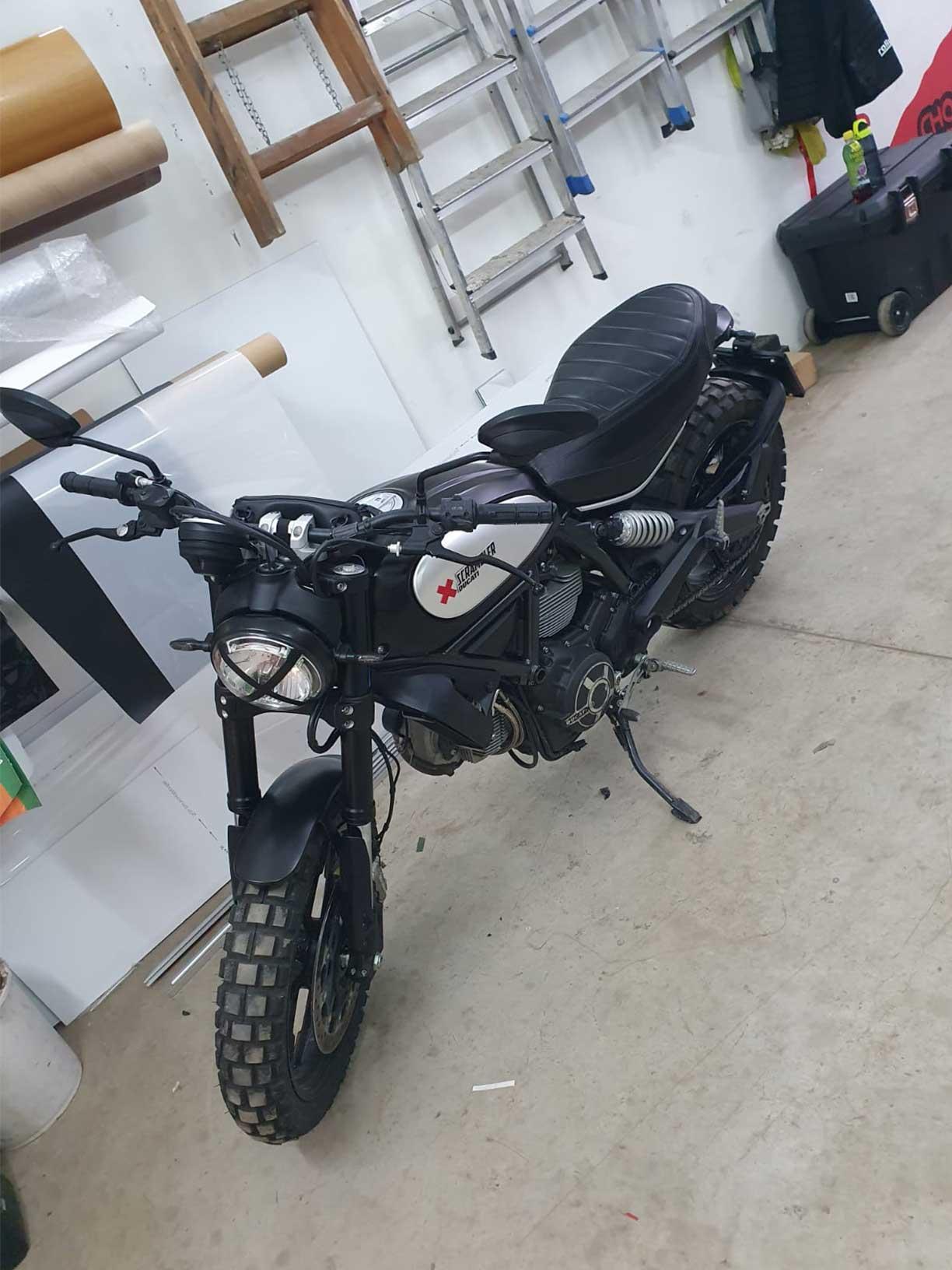 folierung Motorrad