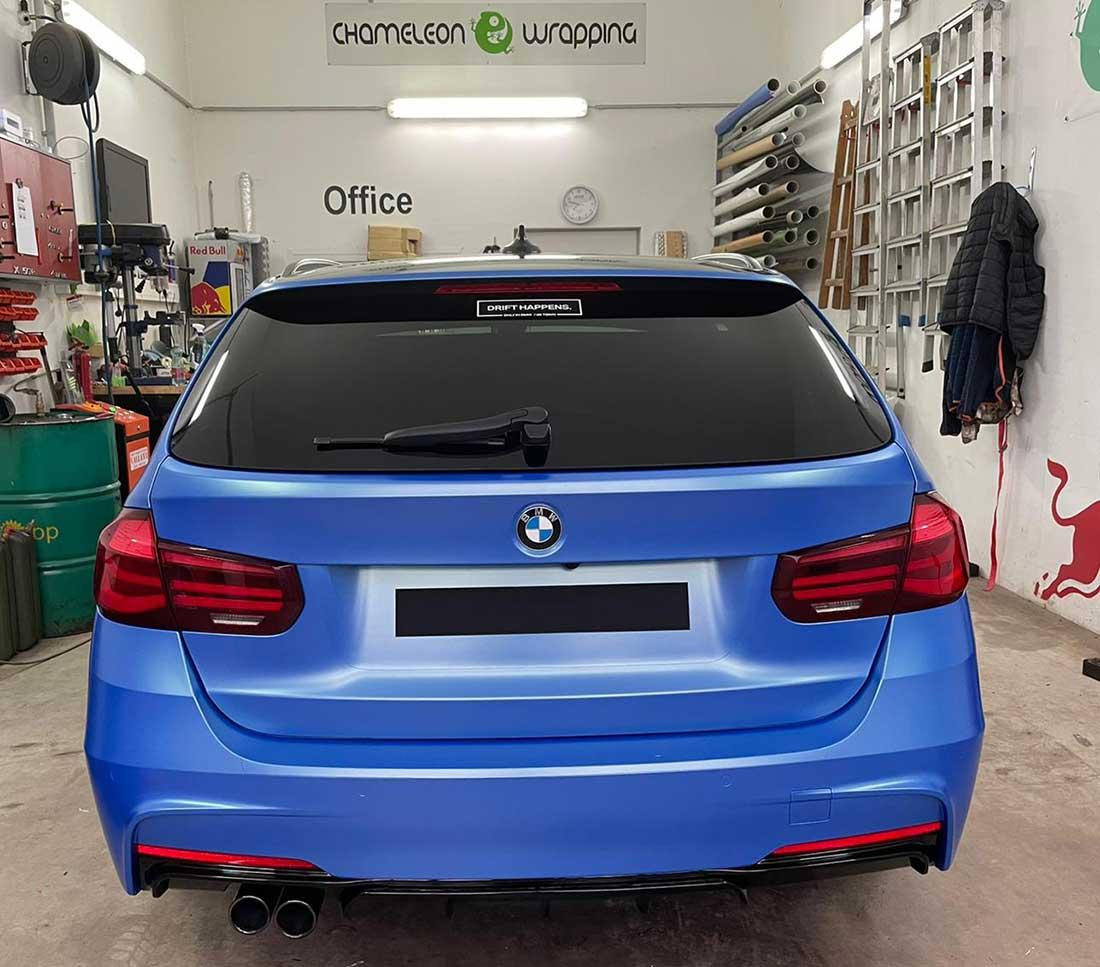 BMW-Folierung blau